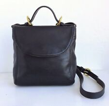 COACH Vintage Black Leather Envelope Crossbody Bag #114