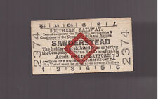 Southern Railway Platform Ticket - Sanderstead - Dated 1950