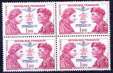 France 1973 MNH Blk 4, Parachute commanders, Military, Aviation