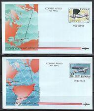 ESPAÑA AEROGRAMAS 1982 3/4 2v.