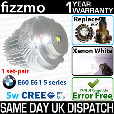 Fizzmo BMW E60 E61 Série 5 LCI 5 w cree led angel eye ring éclairage latéral 63127187952
