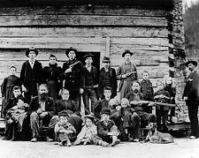 1897 West Virginia HATFIELDS Family Glossy 8x10 Photo Old West Portrait McCoys