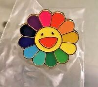 New TAKASHI MURAKAMI Kaikai Kiki Flower Lapel  Pin Rainbow Complexcon Chicago