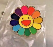 New TAKASHI MURAKAMI Kaikai Kiki Flower Lapel  Pin Badge Rainbow complexcon rsvp