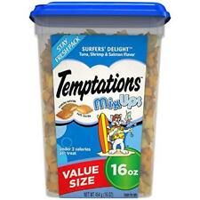 TEMPTATIONS MixUps Treats for Cats SURFER'S DELIGHT Flavor, 16 oz. Tub