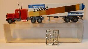 WIKING HO 1/87 CAMION SEMI-REMORQUE PETERBILT LACK TRUCK MEISTERPREIS in BOX