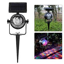 Solar Power Xmas Projector Light Festival LED Fairy Spotlight Outdoor Waterproof