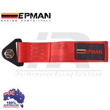*RED* Universal Epman Tow Strap CAMS COMPLIANT Eye Hook Point Track Race JDM