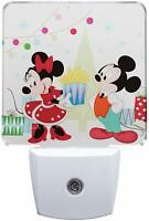 Department 56 Enesco Night Light Disney Mickey and Minnie Mouse White