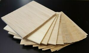 Balsa Wood Bundle Pack Of Off Cuts Various Sizes 14 Pieces