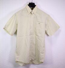 HB230 Lacoste Herren Hemd Shirt kariert gelb blau Gr. S/38 Kurzarm Classic Fit