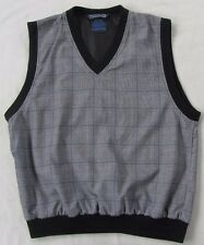 Sunderland Scotland Mens Polyester V-Neck Plaid Classic Golf Vest - M - Usa Made