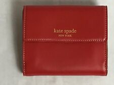 VTG 2000 New $155 Kate Spade Taryn Jane Street Leather Wallet POPPY/GOLD