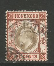 Hong Kong 1904-11 King Edward VII 20c orange brown & black (97) used