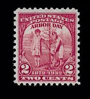 US 1932 Sc# 717 2 c Olympic Arbor Day Mint NH -Vivid Color - Centered