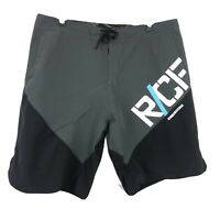 "Reebok Crossfit Training Board Shorts Mens Size 36 X 10"" Black Gray Workout Shor"
