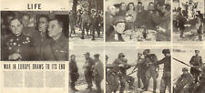1945 WW2 article The End of the War in EUROPE 4 pages  012518