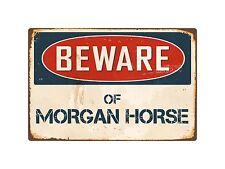 """Beware Of Morgan Horse 8"""" x 12"""" Vintage Aluminum Retro Metal Sign VS289"""