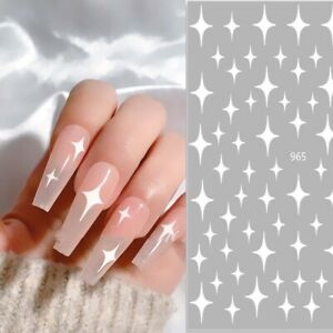 Laser Manicure Nail decal Adhesive Slider decals 3D Nail art sticker Manicure UK