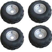 "4x 16 X 8 - 7"" inch Front Rear Back Wheel Rim Tyre Tire Quad Bike ATV Buggy Kart"