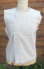 Ancienne chemise de corps d'homme en flanelle, linge ancien