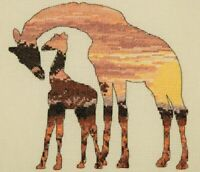 ANCHOR MAIA COUNTED CROSS STITCH KIT COLLECTION  GIRAFFES ANIMALS SILHOUETTES