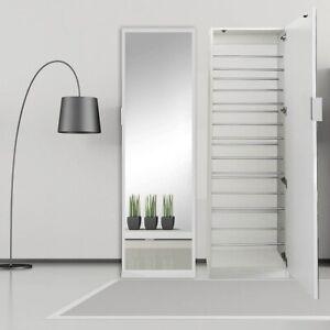 Spiegelschuhschrank 180CM Weiß Schuhschrank Schuhregal Schuhkommode 👠