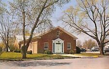 Bridgeville Delaware~Fellowship Hall~Union Methodist Church~1950s Cars~Postcard