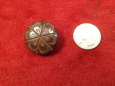 #22 of 50, LARGE OLD VTG ANTIQUE? BAKELITE BUTTON, A LITTLE BIT SMALLER BLACK 1