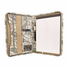 Deluxe Digital Camo Zippered Padfolio Organizer Notepad W Document And Id Holder