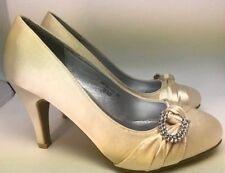 Zapatos de Novia Tacón HIGH Tacones Oro Beige Con Hebilla HP 787-13