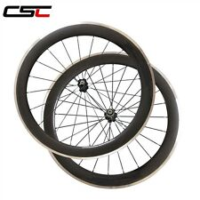 25mm width, 60mm clincher wheels with Alloy brake surface /carbon fiber wheelset