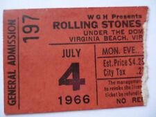 ROLLING STONES 1966 Original__CONCERT TICKET STUB__Virginia Beach__EX(-)