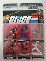 GI Joe Nano Metalfigs New 2020 Jada Hasbro 6 figures Cobra Die cast