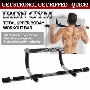 Portable Upper Body Gym Workout Home Exercise Door gym Pull Chin Up Iron Bar ABS