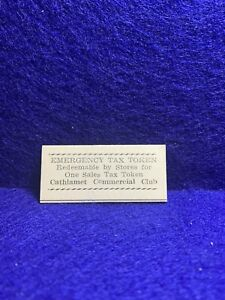 Cathlamet, Washington .. Cathlamet Commercial Club Sales Tax Token 22x50mm