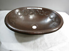 Large Oval Copper Bath Sink with Joining Rings Design
