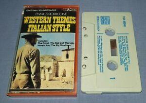 ENNIO MORRICONE WESTERN THEMES ITALIAN STYLE - SOUNDTRACKS cassette album A1323