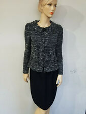Elegant ST JOHN Size 2 Black and White Jacket