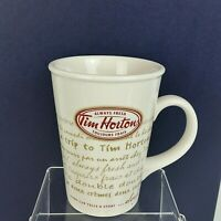 "Tim Hortons Limited Edition 2009 Coffee Mug Cup #009 ""Every Cup Tells a Story"""