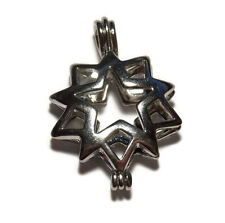 Moravian Star Bead Cage Pendant Fits 7mm Bead Pearl / Scented Locket Religious