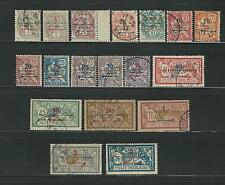 French Morocco: 1914; Scott 38-54, Mostly used, various conditions FM50.