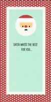 Christmas Greeting Card MONEY HOLDER, Santa Wants The Best For You...