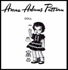 """15"""" Girl Doll & Clothes Toy Sewing Pattern Vintage Mail Order ANNE ADAMS # 4934"""