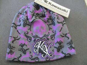 *Brand NEW* Kawasaki KX Beanie / Hat ,  Purple, Black, and Gray