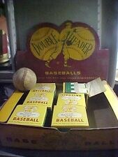 VINTAGE 50'S DOUBLE HEADER OFFICIAL BABE RUTH LEAGUE BASEBALL # 93 STORE DISPLAY