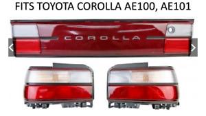Toyota Corolla AE100 AE101 Rear Tail Lights Lamp + Reflector Bonnet Garnish JDM