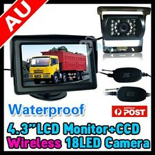 "WIRELESS CAR REVERSING REAR VIEW IR CAMERA PARKING KIT + 4.3"" LCD TFT MONITOR"