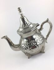 MAGMA Silver Metal TEAPOT Decorative Shells Fancy Tea Pot China