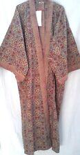Anokhi Suzani Jali Block Print Indian Cotton Boho chic Long Kimono Robe One Size